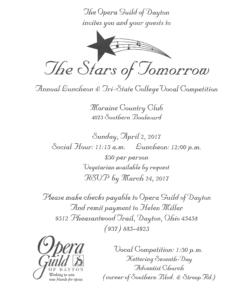 Stars of Tomorrow Luncheon 2017