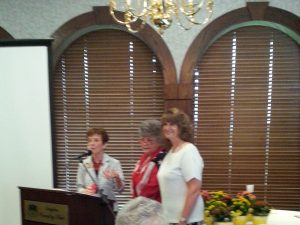 BRAVO! Award winner Linda Rountree with Judy Hudson and Penny Wolff